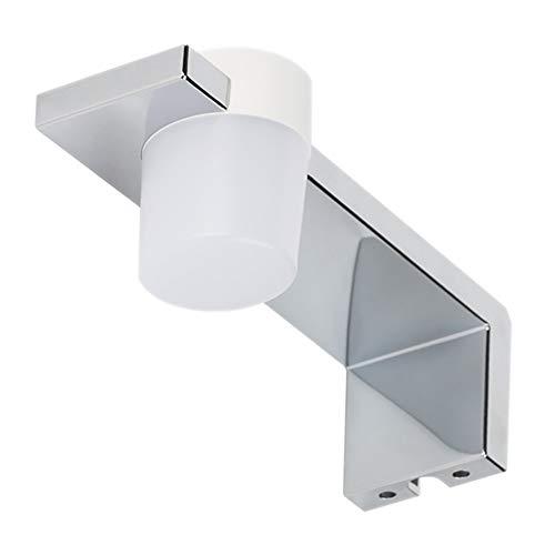 Lampada da Specchio LED per Bagno QLIGHT – Spot light 2,5W, 150LM, 220V, 6000K, ABS, IP44 Classe II, non dimmerabile, Installazione a specchio con telaio, punto luce, fredda