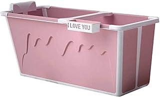 熱い大人の大規模なポータブル折りたたみプラスチックバスタブシャワーキッズホームプレートフルボディ赤ちゃんのお風呂肥厚 (色 : ピンク)