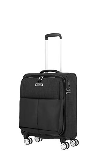 travelite 4-Wheel Suitcase Set Sizes L/M/S with TSA Lock, Black (Black) - 92347-01