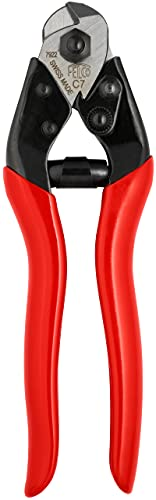 Felco Cable Cutter (F C3) - Felco Cable Cutter (F C7) - Heavy Duty Strength Steel Wire One-Hand Cable Cutter with Non-Slip Grip (7mm)
