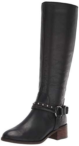 Lucky Brand Women's KARESI Equestrian Boot, Black, 5.5 M US