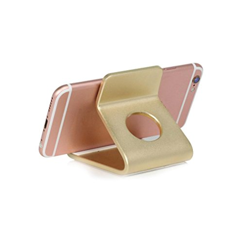 DZT1968 Universal Aluminum structure Anti-slip Desktop Holder Table Cradle Mount For Cell Phone Tab (Gold)