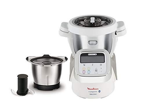 Moulinex i-Companion - HF9001 Robot cuiseur connecté - 5 accessoires inclus + Moulinex XF387E10 Mini Bol Bébé 1,4 L + 4 Pots en Verre
