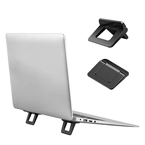 bifineノートパソコン スタンド 貼り付け型 強い粘着力 pcスタンド 軽量 持ち運び便利 放熱対策 滑り止め ...