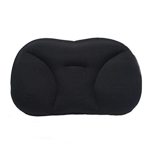 Almohada de cuello en 3D para dormir profundo, almohada para el cuello, reposacabezas, almohada de alivio de presión, fundas lavables para regalo, color negro