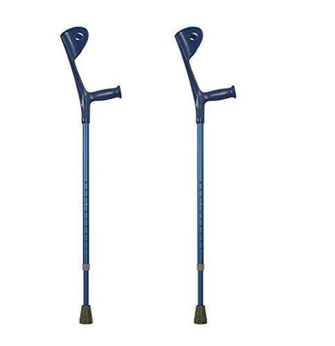 WuLien Unterarm-Gehstützen Krücken, Orthopädische Krücke, aus Aluminium regulierbar (in Höhe und Ellbogen) für Behinderte Gehhilfen Gemütlich Sicher Gehstützen