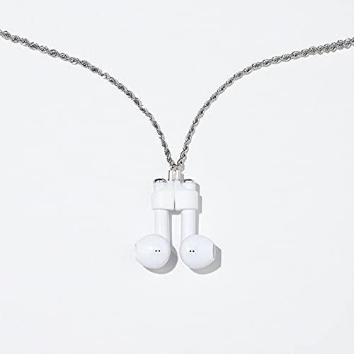 SPS Auriculares inalámbricos Cadena Anti-perdida Fuerte Manga magnética Cabeza Acero Acero Inoxidable Collar de retención Unisex para