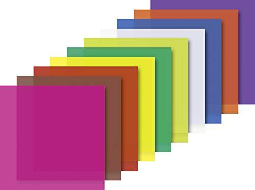 Heyda 204875511 Faltblätter transparent 10 x 10 cm 10 Farben Sortiert