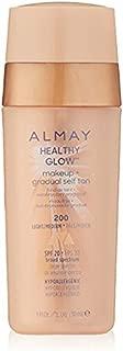 Almay Healthy Glow Makeup & Gradual Self Tan, 200 Light/Medium (Pack of 2)