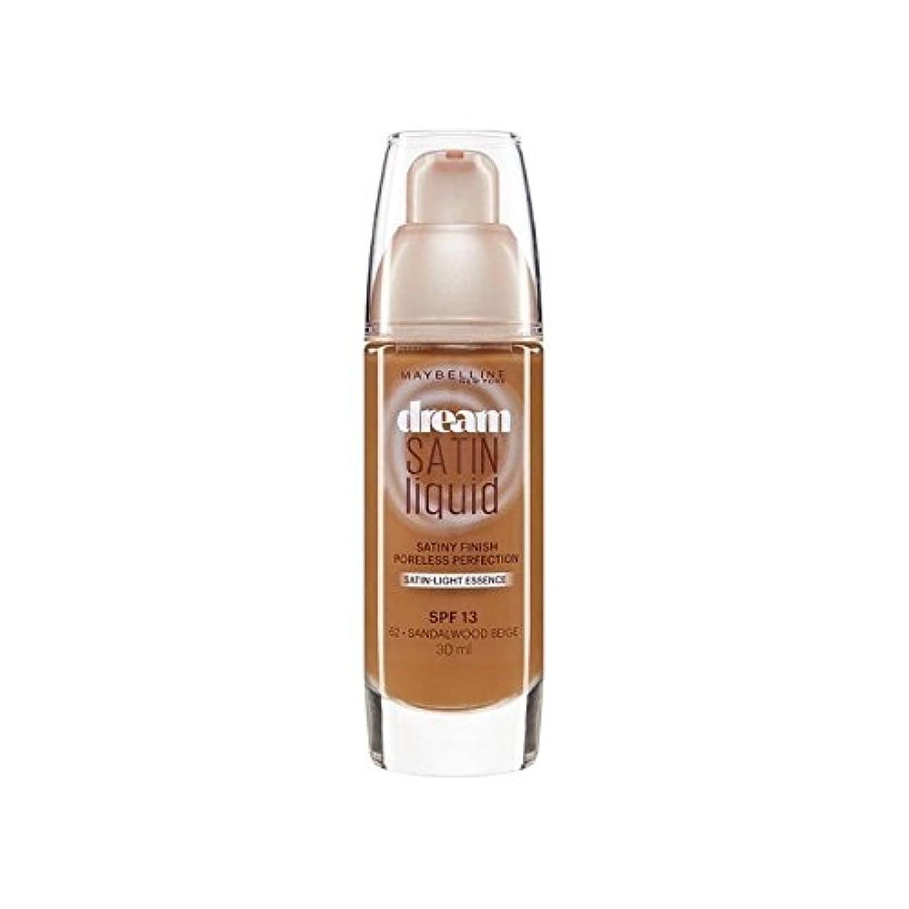 その他履歴書軽減するMaybelline Dream Satin Liquid Foundation 64 Deep Spice 30ml (Pack of 6) - メイベリン夢サテンリキッドファンデーション64深いスパイス30ミリリットル x6 [並行輸入品]