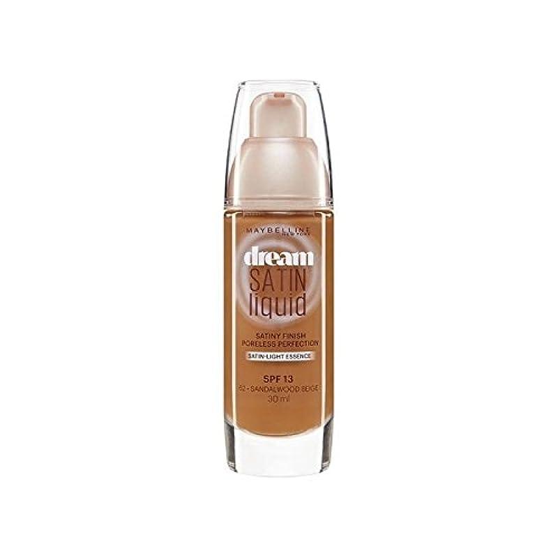 付属品信念いうMaybelline Dream Satin Liquid Foundation 64 Deep Spice 30ml (Pack of 6) - メイベリン夢サテンリキッドファンデーション64深いスパイス30ミリリットル x6 [並行輸入品]