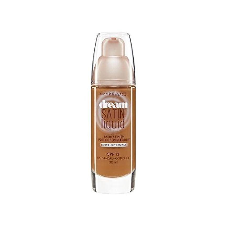 臨検大腿暖炉Maybelline Dream Satin Liquid Foundation 64 Deep Spice 30ml (Pack of 6) - メイベリン夢サテンリキッドファンデーション64深いスパイス30ミリリットル x6 [並行輸入品]