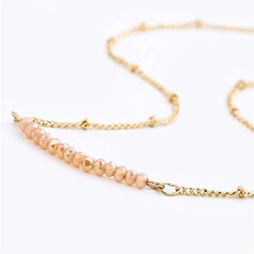 HOULAI Multicolor ópalo piedra gargantilla collares moda color oro cadena cristal collar para las mujeres joyería corto Chockers collar