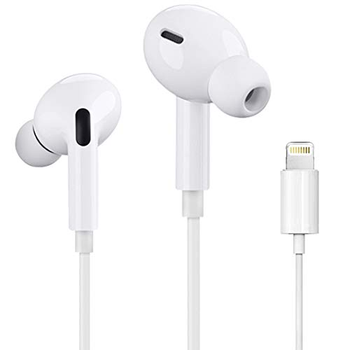 [Apple MFi Certified] Apple Earbuds with Lightning Connector(Built-in Microphone & Volume Control) In-Ear Stereo Headphones Headset Compatible with iPhone SE/11/XR/XS/7/7 Plus/8/8Plus - All iOS System
