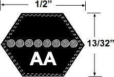 Preisvergleich Produktbild AA91 Sechskant Rasenmäher Antriebsriemen