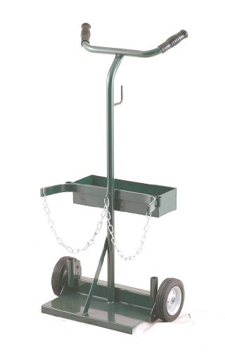 Harper Trucks 140-71 Deluxe Welding Cylinder Hand Truck, 39-Inch High x 19-Inch Wide with 6' x 1.5' Solid Rubber Wheels