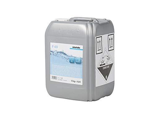 Winterhalter - Detergente líquido F40 para lavar cristal de 12Kg. Lavavajillas industriales. Lavado higiénico y brillante. 100% Biodegradables.