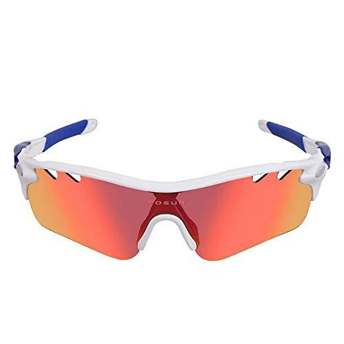 Hombres Mujeres Gafas de sol deportivas polarizada Gafas para deportes al aire...