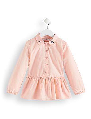Amazon-Marke: RED WAGON Mädchen Bluse mit Schößchen und Stickerei, Rosa (Dusky Pink), 110, Label:5 Years