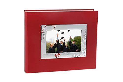 Album de Graduation en Argent 30x25 avec Cadre 13x18 cod.PF01960LU cm 30x25 by Varotto & Co.