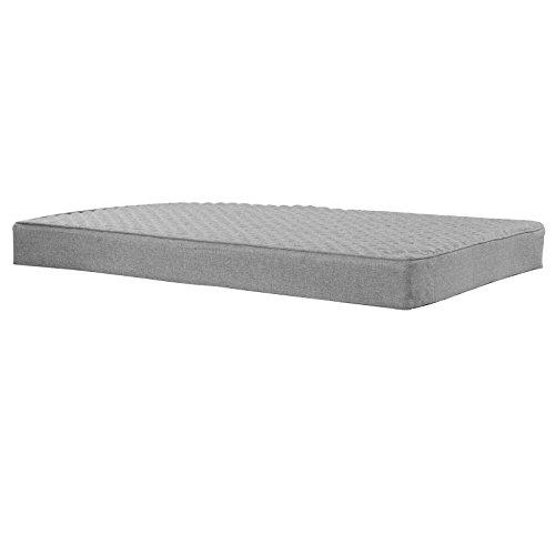 WOLTU Palettenkissen Palettenpolster Palettenauflage mit Reißverschluss waschbar Sofa Couch Kissen Sitzpolster 120x80x10cm Grau SKN004gr