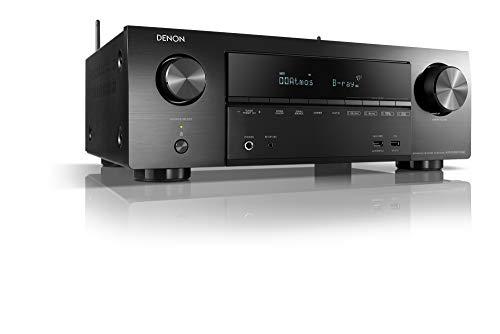 Denon AVR-X1600HDAB 7.2-Kanal AV-Receiver, Hifi Verstärker, Alexa Kompatibel, 6 HDMI Eingänge, DAB+, Bluetooth und WLAN, Musikstreaming, Dolby Atmos, AirPlay 2, HEOS Multiroom