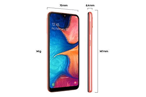 Samsung Galaxy A20e Smartphone (14.82cm (148.2 mm) 5.8 Zoll) 32GB interner Speicher, 3GB RAM, Dual SIM, Coral) - Deutsche Version