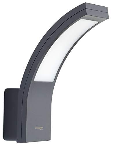 LED Außenleuchte Rio 10W | Außenlampe Ip54 anthrazit Wand Außen | Außenwandleuchte 3000K Warmweiß | Wandlampe Oktaplex Lighting