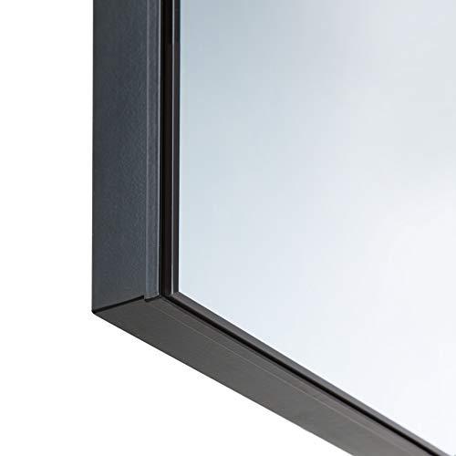 TecTake Spiegel Infrarotheizung Spiegelheizung ESG Glas Elektroheizung Infrarot Heizkörper Heizung inkl. Wandhalterung - 5