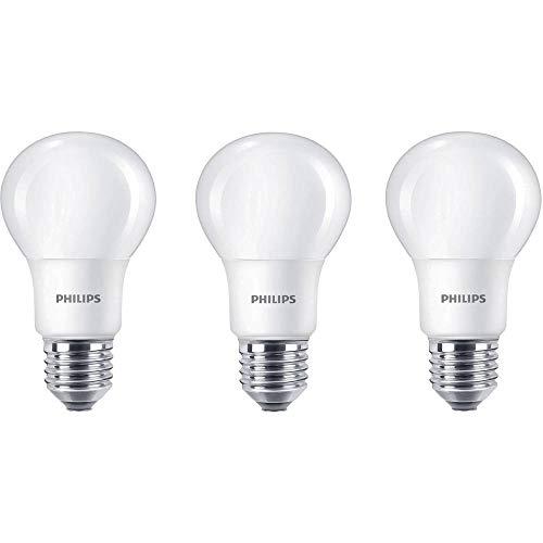 Philips 929001234381 - Bombilla LED estándar, casquillo E27, consume 8 W, equivalente a 60 W, no regulable, luz blanca cálida