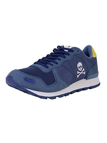 Scalpers Folk Sneakers - Sneaker para Hombre, Talla 40, Color Azul Marino