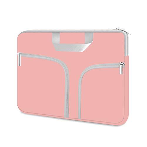HESTECH Chromebook Case, 11.6-12.3 inch Neoprene Laptop Sleeve Case Bag Handle for Acer r11 /Spin 311/HP Stream/Samsung/MacBook Air 11/ Microsoft Surface Pro X/7/6/5/4/3/2/1 /Go-12.4,Rose Quartz