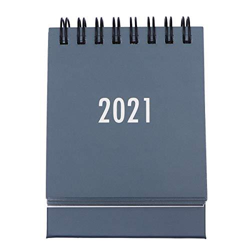 STOBOK Mini Calendario de Escritorio 2021 Calendarios de Mesa Plegables Calendario de Calendario de Color Sólido para El Hogar de La Oficina (2020. 7-2021. 12 Gris)
