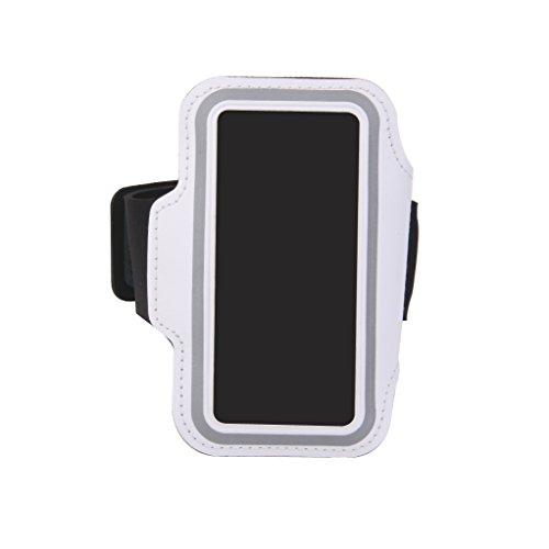 Custodia di protezione per braccio da jogging per iPhone 5/5S, colore: Bianco