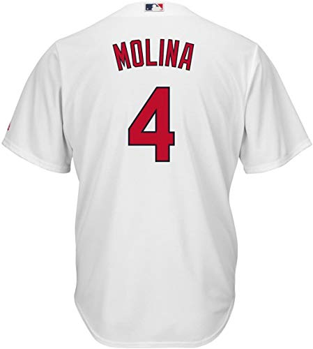 Majestic Athletic Yadier Molina St Louis Cardinals Infant White Home Cool Base Replica Jersey 24M