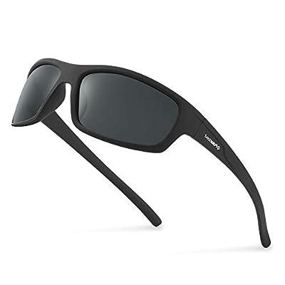 POLARKING 2 PACK Polarized Sport Sunglasses for Men and Women Matte Finish Sun Glasses Mirrored Lens UV Blocking Black