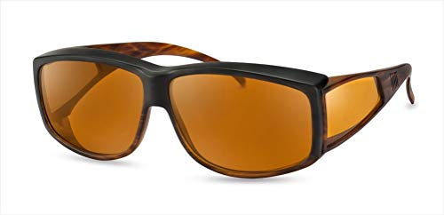 Filterbrille Eschenbach Wellness Protect Überziehbrille Unisex 65/12, 85% Tönung