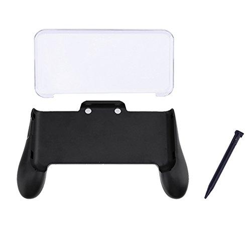 akaddy 3en 1empuñadura + funda de cristal + plástico lápiz capacitivo para Nintendo New 3DS LL 3DS XL consola