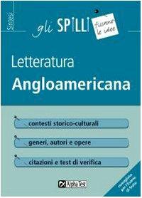 angloamericana Letteratura angloamericana