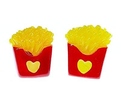 de puces Miniblings frites frites de 15mm - Boucles d'oreille bijoux de mode main je branche Boucles d'oreille