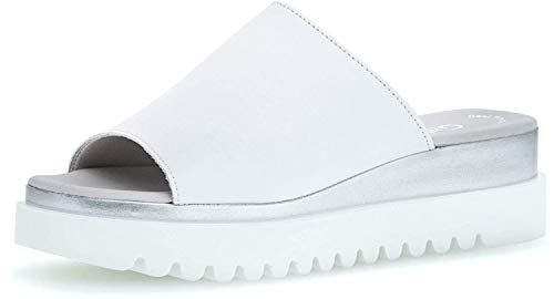Gabor Damen ClogsPantoletten, Frauen Clogs,Best Fitting, feminin elegant Women's Women Woman Freizeit leger Slipper Slides Damen,Weiss,38 EU / 5 UK