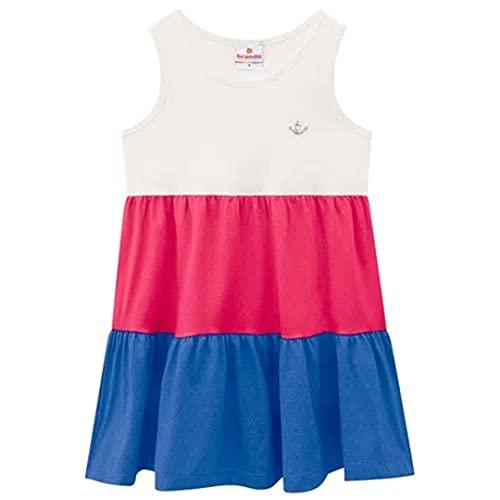 Vestido Brandili Infantil Regata Tricolor Cinza Mescla