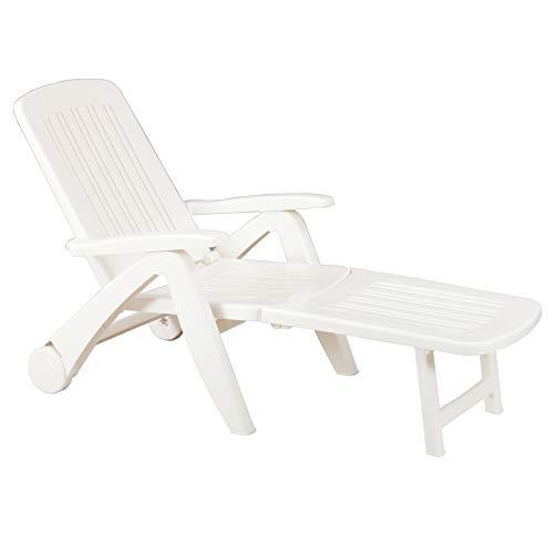 BICA 43 Cancun Sedie, Bianco, 72X190X60 Cm