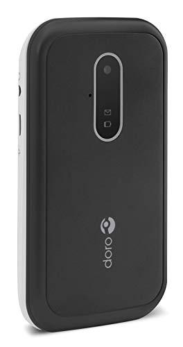 Doro 6620 desbloqueado 3G Clamshell botón grande teléfono móvil para personas mayores con pantalla de 2,8 pulgadas, botón de emergencia y posicionamiento GPS