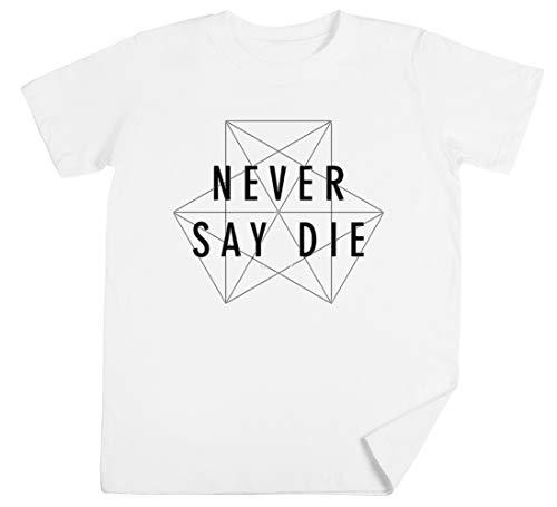 Dubstep Never Say Die Kinder Unisex Jungen Mädchen Weiß T-Shirt Kids Unisex T-Shirt