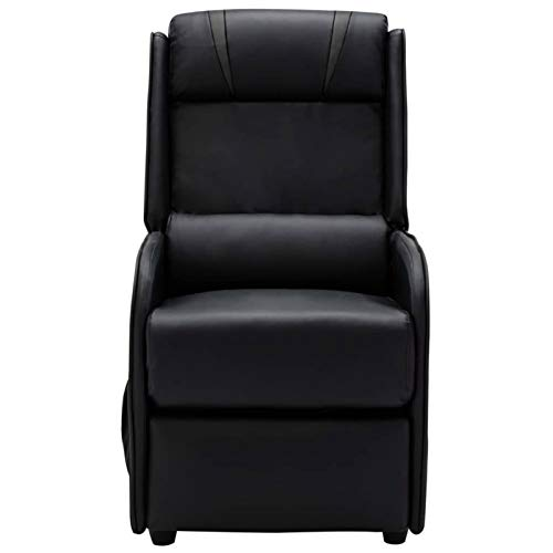 WooDlan Sillón de Masaje Relax Elevador Levantapersonas, Función Calor, Programas Auto, Vibro Ondulación, Negro y Gris