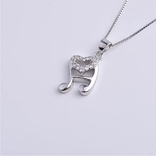 Gbrand Collar de Nota Musical de corazón de Cristal de Plata de Ley 925 para Mujer, Colgantes, Regalo de joyería de Fiesta
