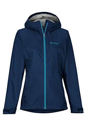 Marmot Wm s Precip Eco plus Jacket Giacca Antipioggia Rigida, Impermeabile Leggero, Antivento, Impermeabile, Traspirante, Donna, Arctic Navy, S