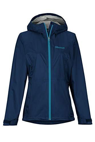 Marmot Damen Wm's PreCip Eco Plus Jacket Hardshell Regenjacke, Winddicht, wasserdicht, atmungsaktiv, Arctic Navy, M