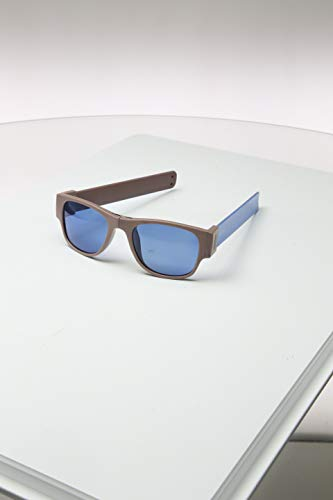 Sunfold Accent Gafas de Sol Enrollables, Hombre, Gris y Azul, Talla Única